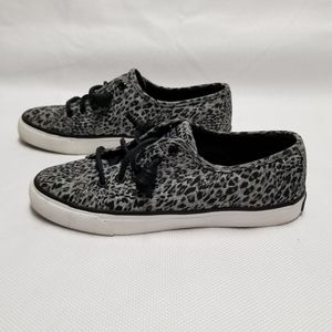 Sperry Snow leopard print sneakers.